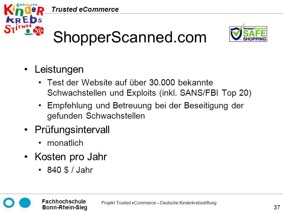 ShopperScanned.com Leistungen Prüfungsintervall Kosten pro Jahr