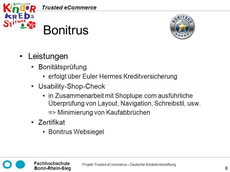 Bonitrus Leistungen Bonitätsprüfung Usability-Shop-Check Zertifikat