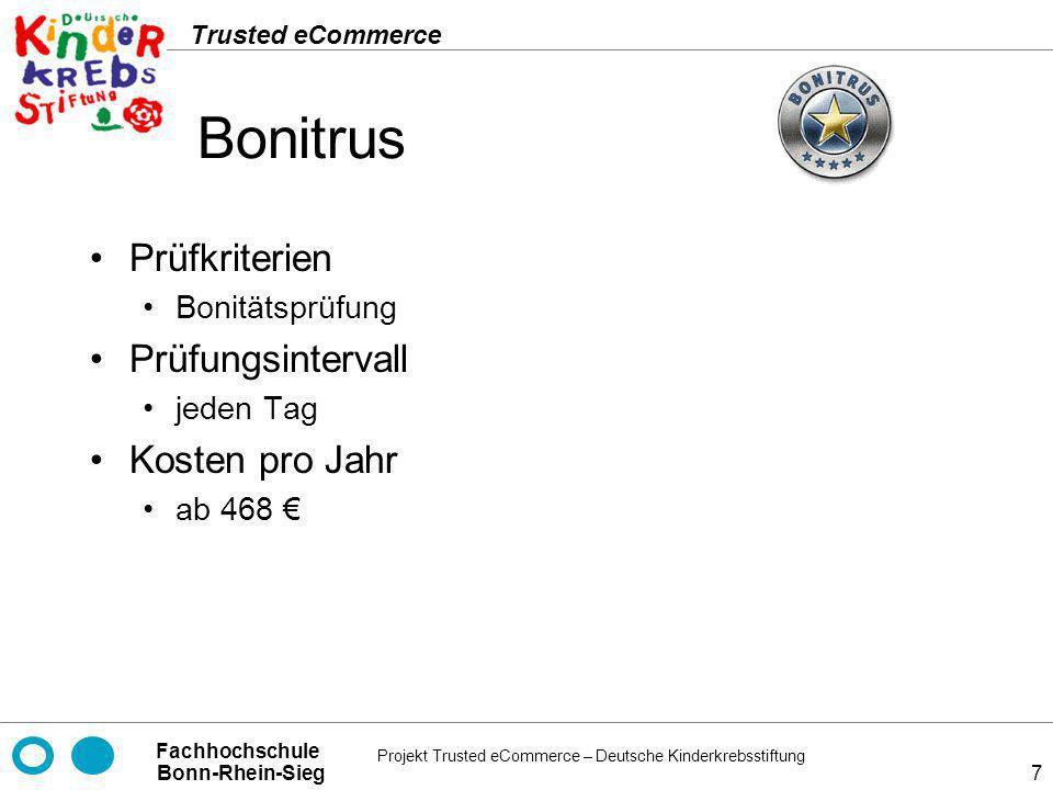 Bonitrus Prüfkriterien Prüfungsintervall Kosten pro Jahr