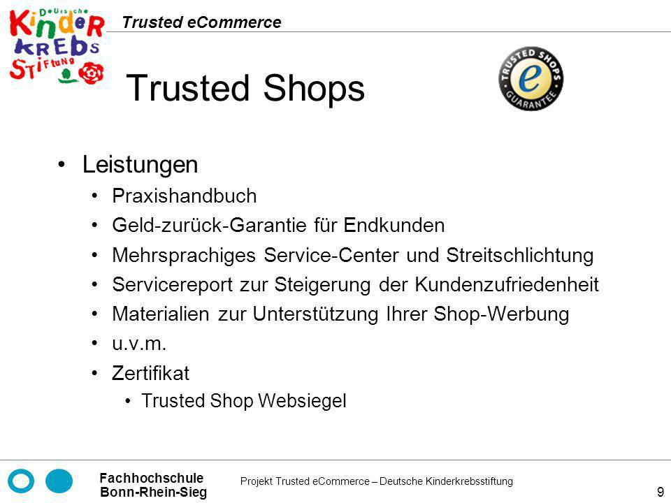 Trusted Shops Leistungen Praxishandbuch