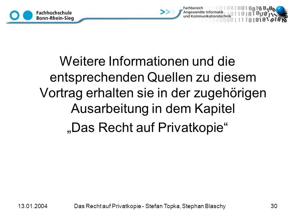 """""""Das Recht auf Privatkopie"""