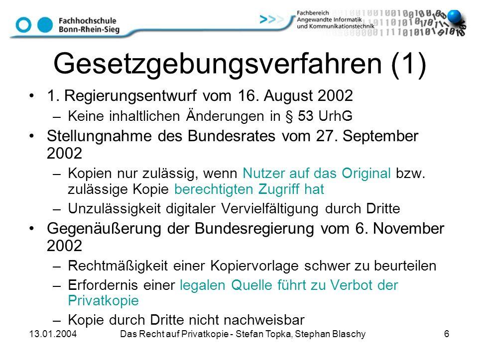 Gesetzgebungsverfahren (1)