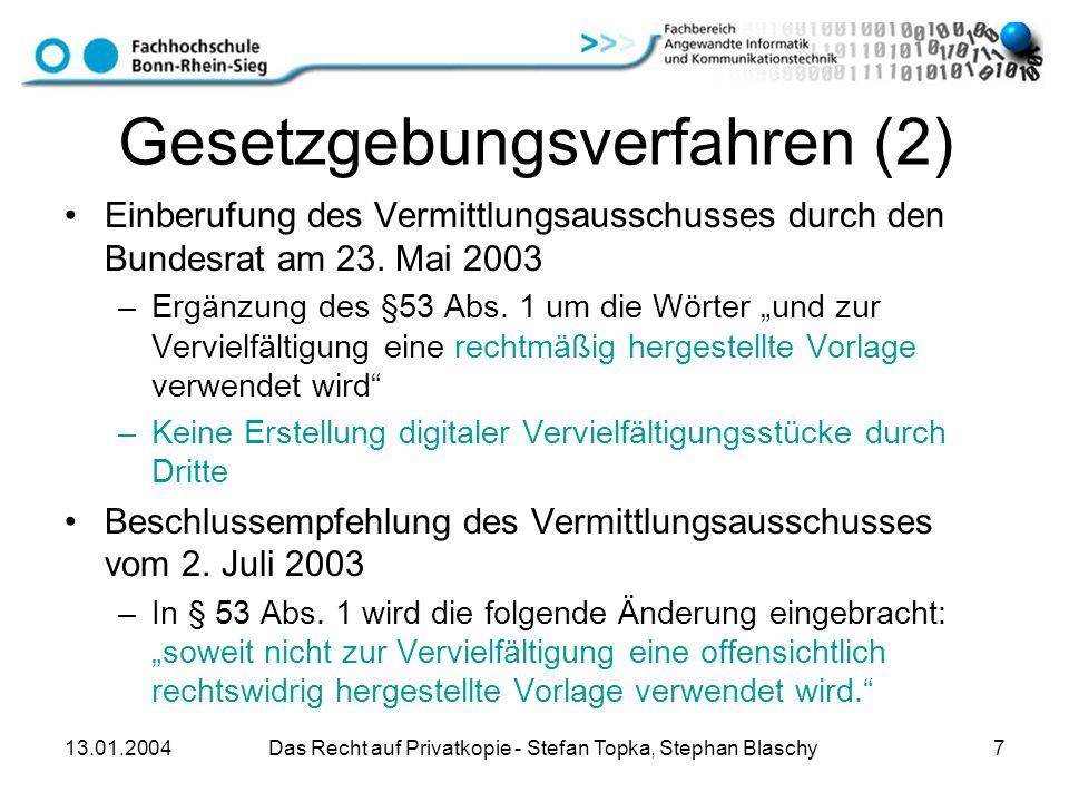 Gesetzgebungsverfahren (2)