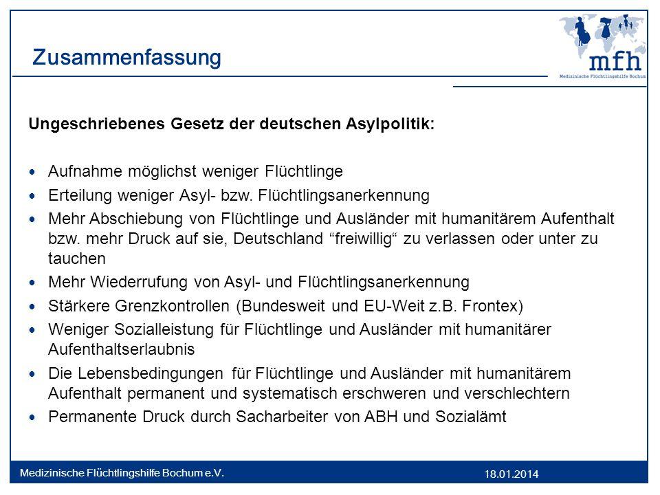 Zusammenfassung Ungeschriebenes Gesetz der deutschen Asylpolitik: