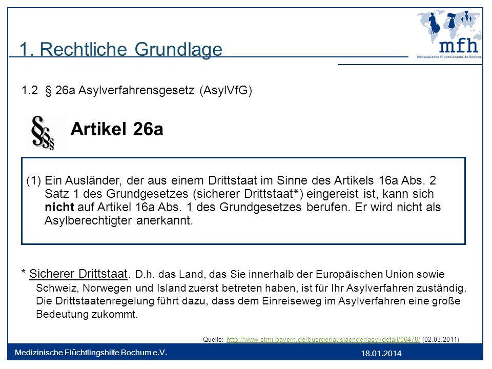 Artikel 26a 1. Rechtliche Grundlage