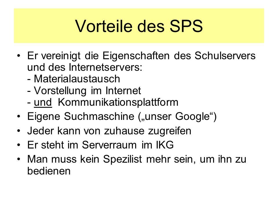 Vorteile des SPS