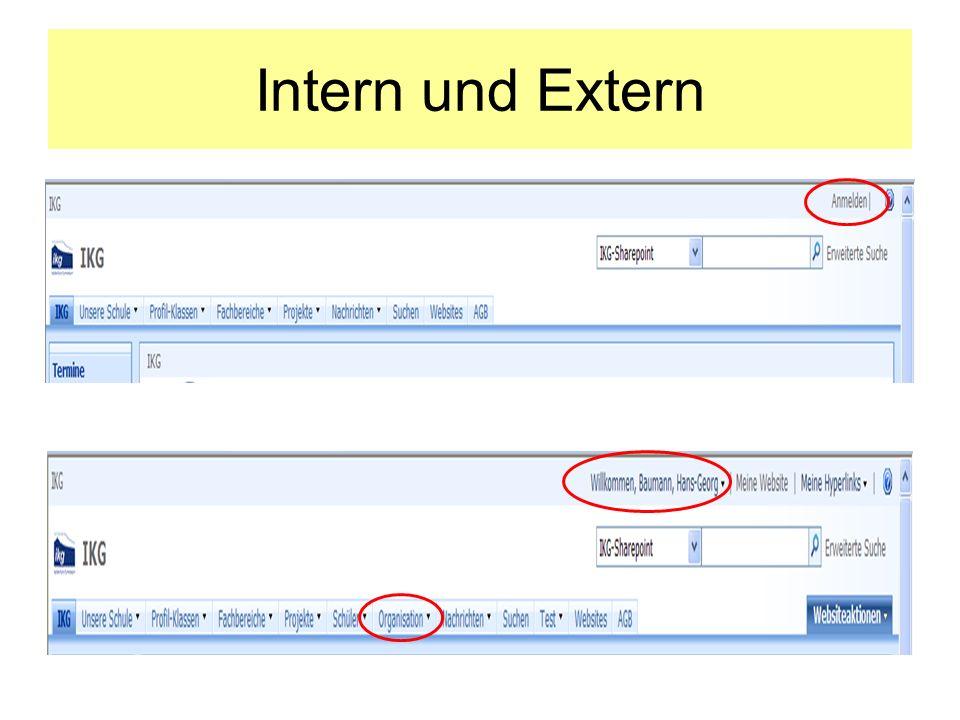 Intern und Extern