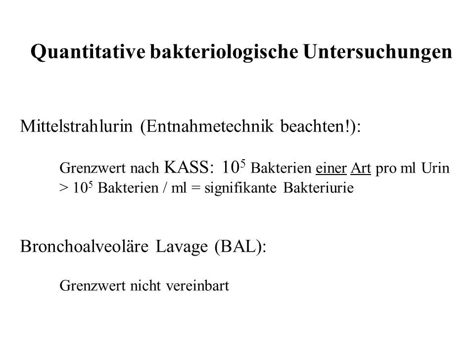 Quantitative bakteriologische Untersuchungen