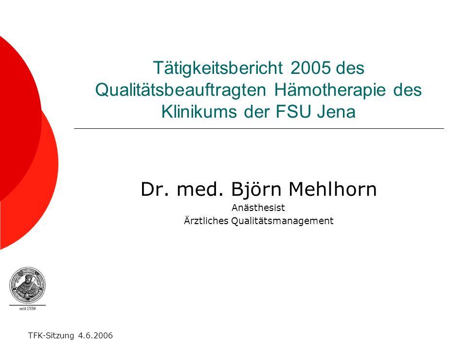 Dr. med. Björn Mehlhorn Anästhesist Ärztliches Qualitätsmanagement
