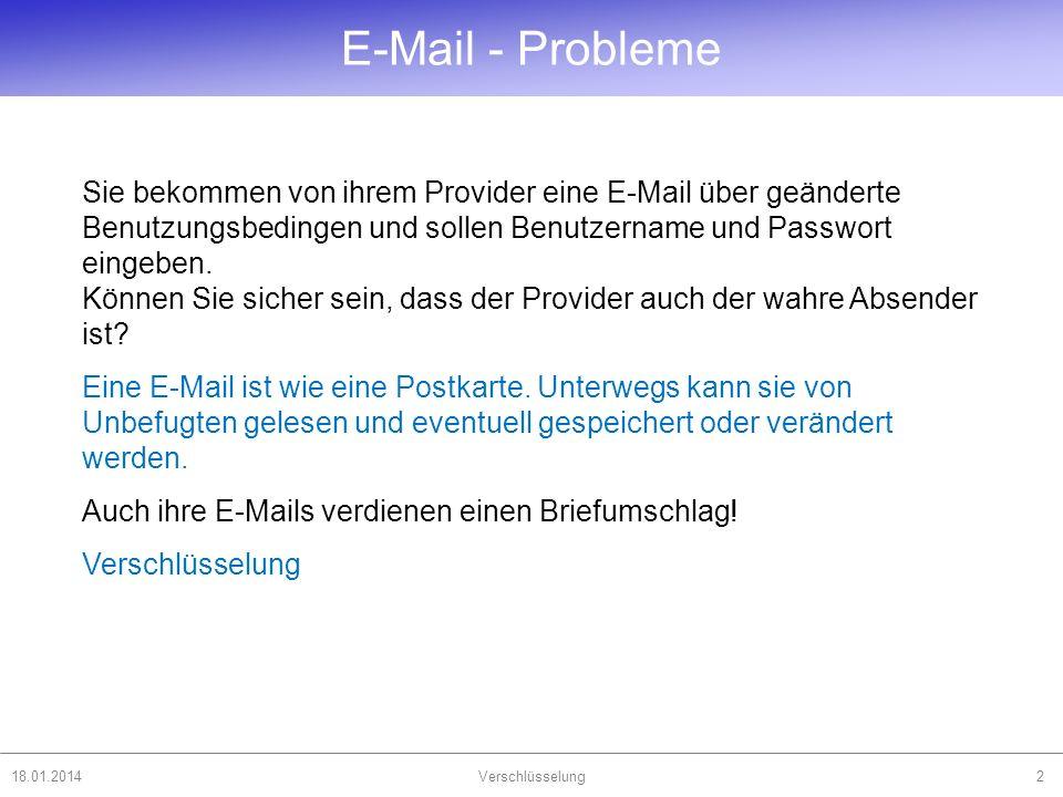 E-Mail - Probleme