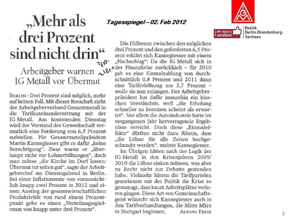 Tagesspiegel – 02. Feb 2012