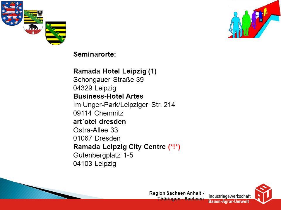 Ramada Hotel Leipzig (1) Schongauer Straße 39 04329 Leipzig