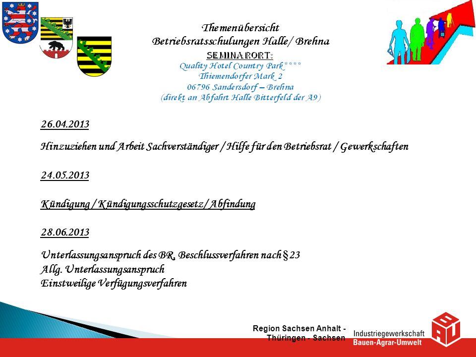 Kündigung / Kündigungsschutzgesetz/ Abfindung 28.06.2013