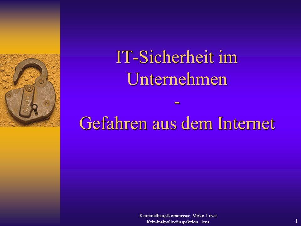 IT-Sicherheit im Unternehmen - Gefahren aus dem Internet