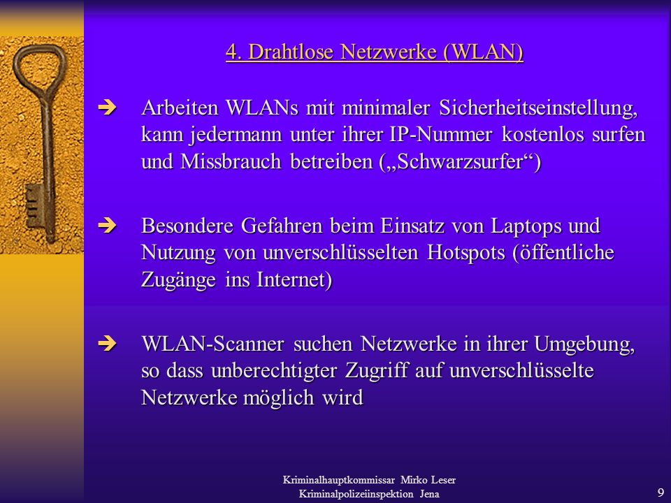 4. Drahtlose Netzwerke (WLAN)