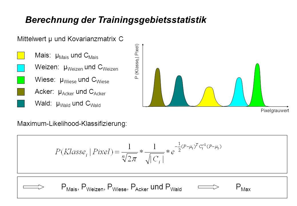 Berechnung der Trainingsgebietsstatistik