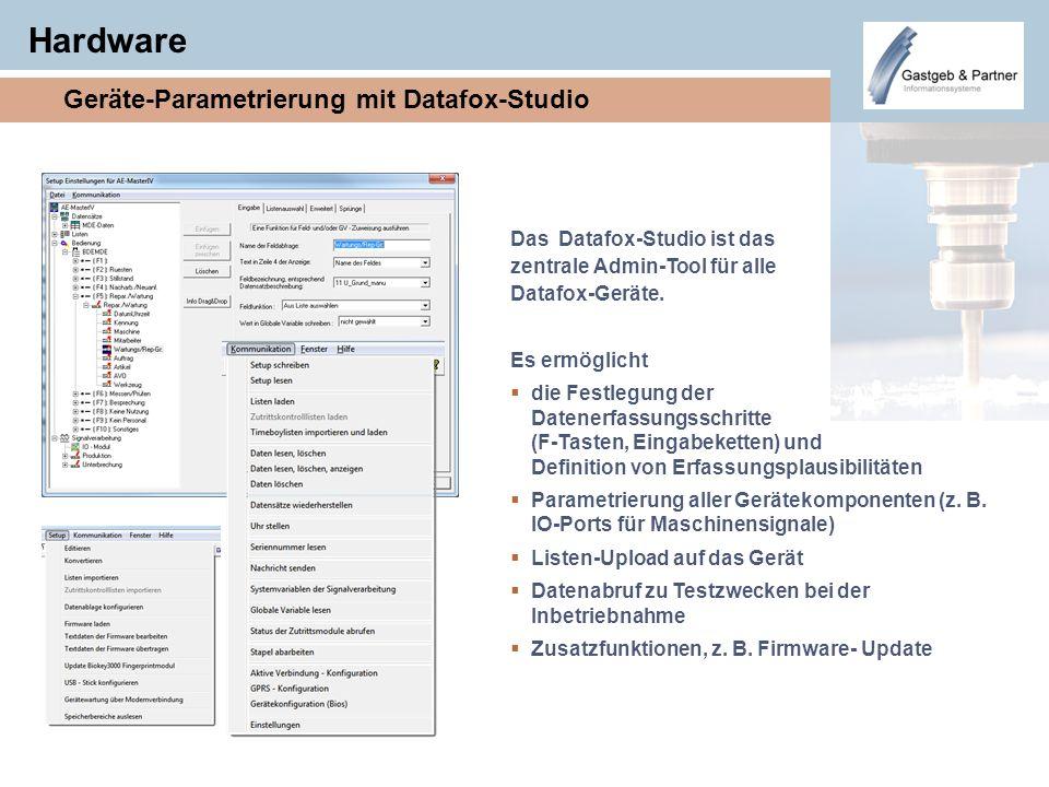 Hardware Geräte-Parametrierung mit Datafox-Studio