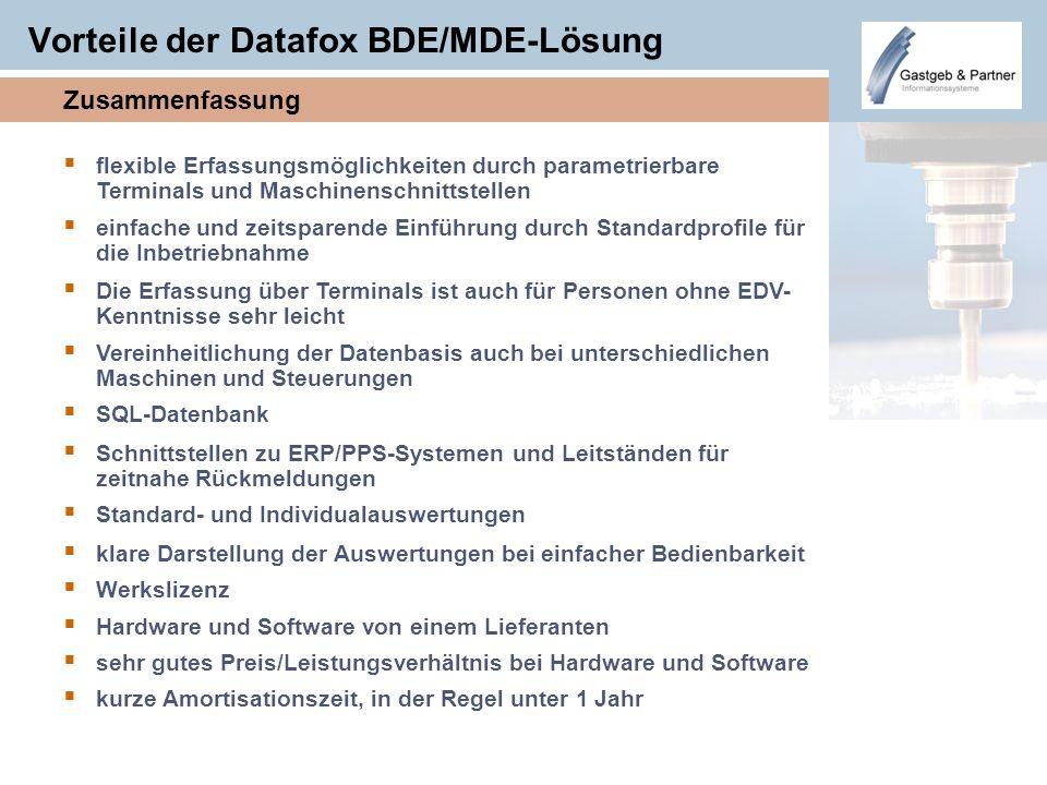 Vorteile der Datafox BDE/MDE-Lösung