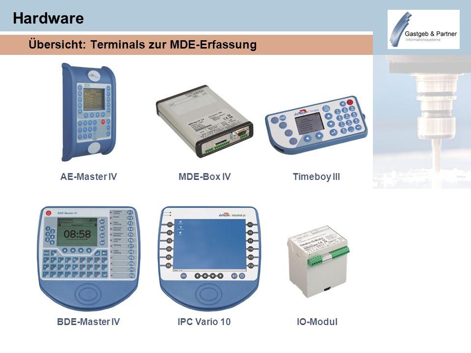 Hardware Übersicht: Terminals zur MDE-Erfassung AE-Master IV