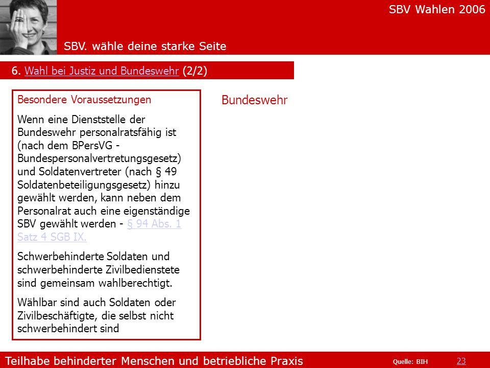Bundeswehr 6. Wahl bei Justiz und Bundeswehr (2/2)