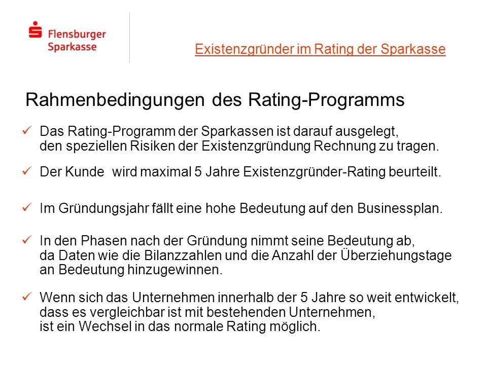 Existenzgründer im Rating der Sparkasse