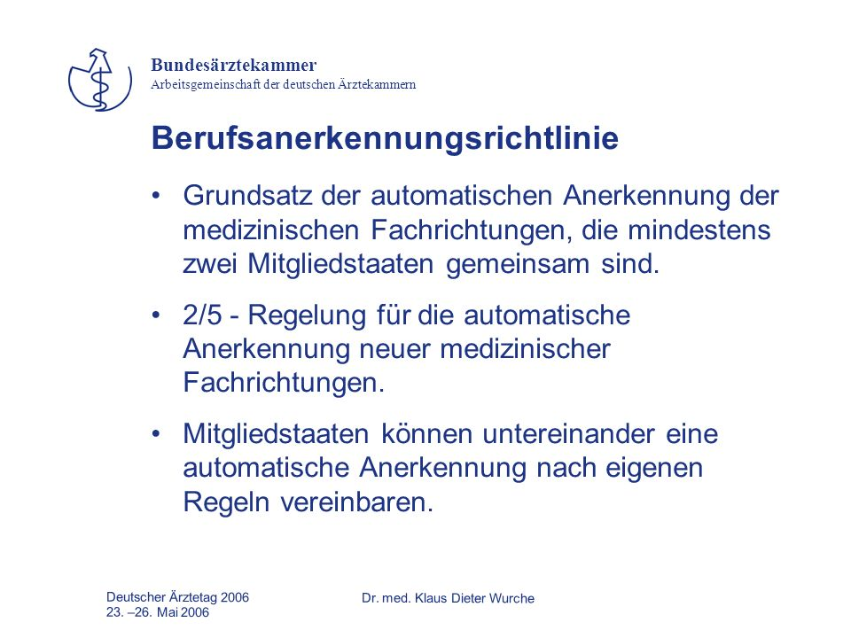 Berufsanerkennungsrichtlinie