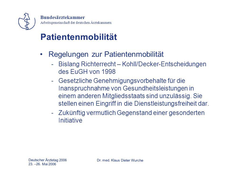 Patientenmobilität Regelungen zur Patientenmobilität