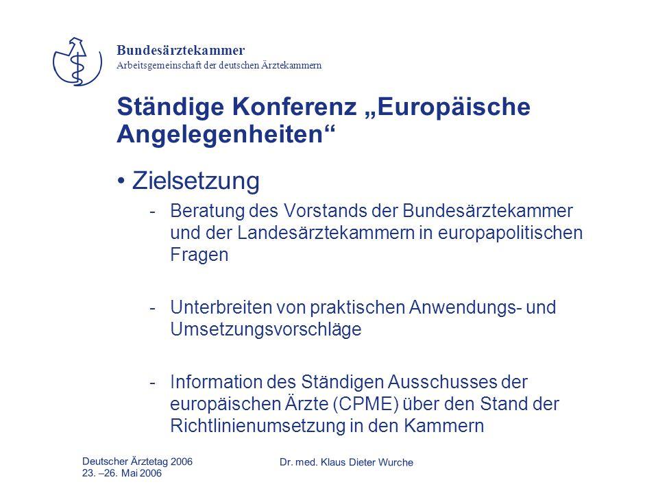 """Ständige Konferenz """"Europäische Angelegenheiten"""
