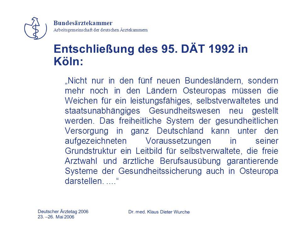Entschließung des 95. DÄT 1992 in Köln: