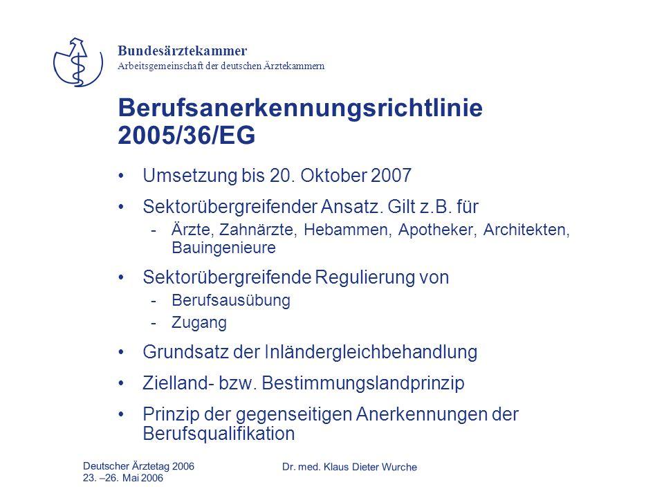Berufsanerkennungsrichtlinie 2005/36/EG