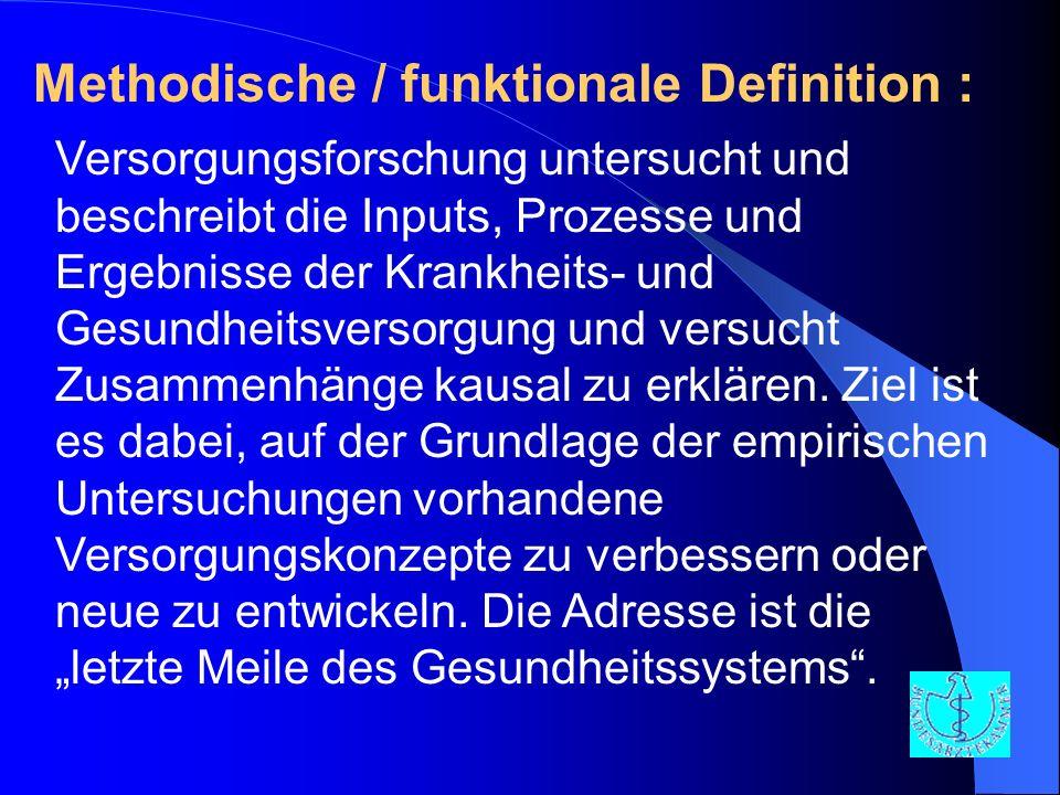 Methodische / funktionale Definition :