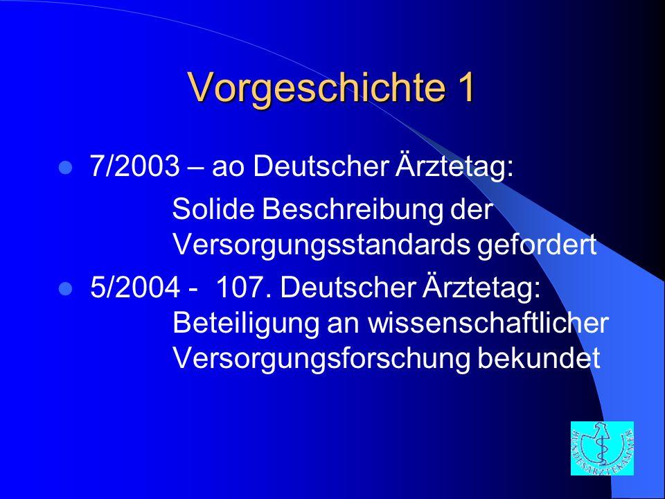 Vorgeschichte 1 7/2003 – ao Deutscher Ärztetag: