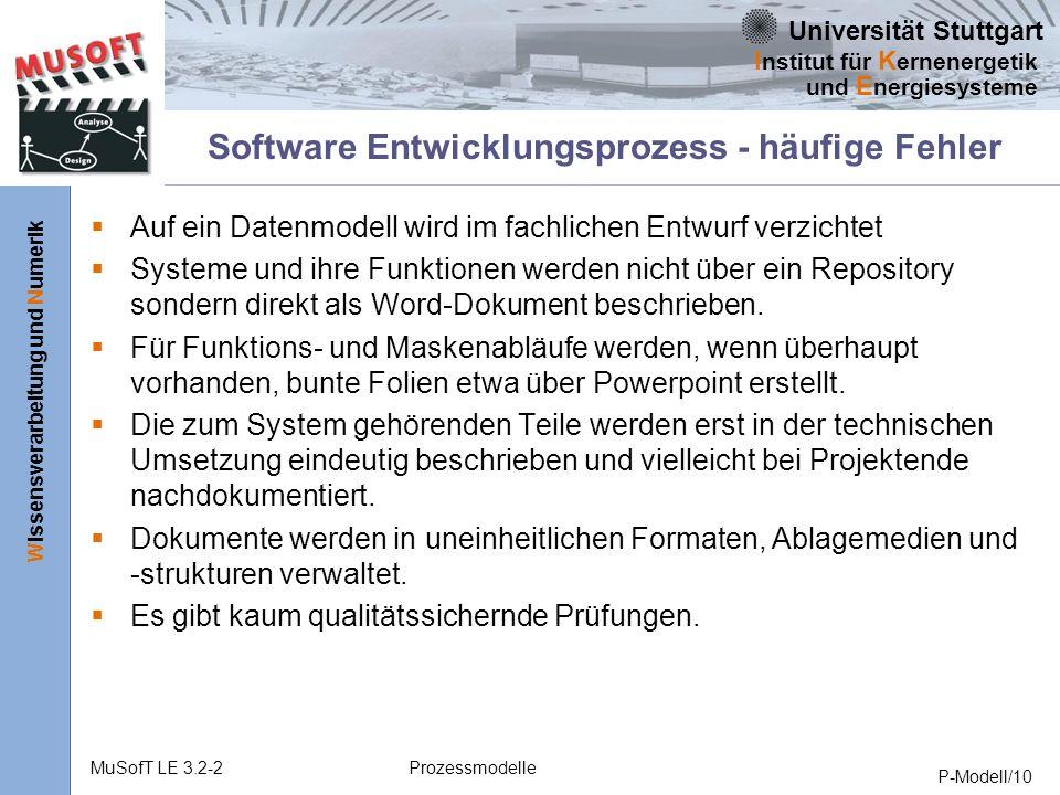 Software Entwicklungsprozess - häufige Fehler