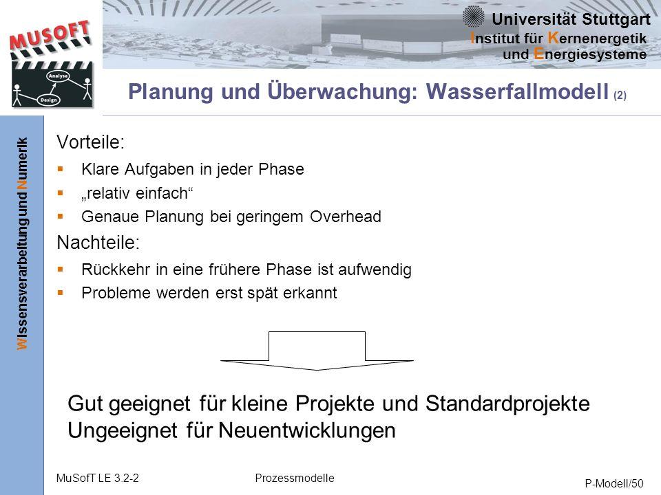 Planung und Überwachung: Wasserfallmodell (2)