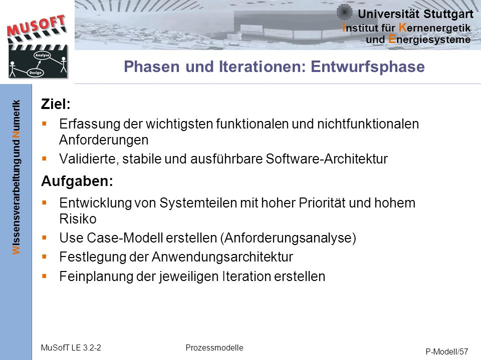 Phasen und Iterationen: Entwurfsphase