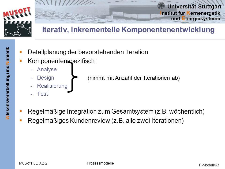 Iterativ, inkrementelle Komponentenentwicklung