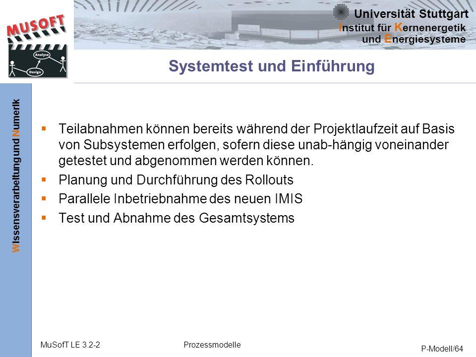 Systemtest und Einführung