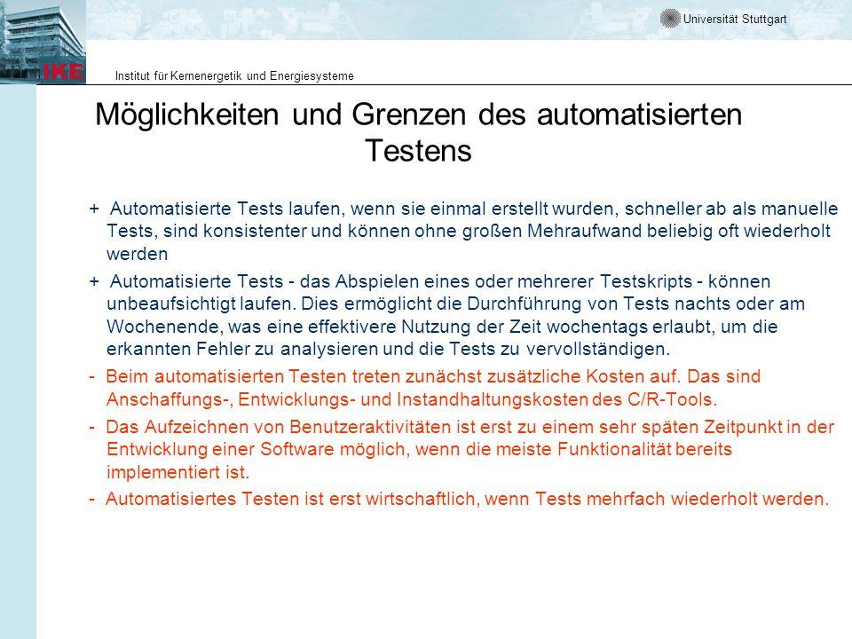 Möglichkeiten und Grenzen des automatisierten Testens