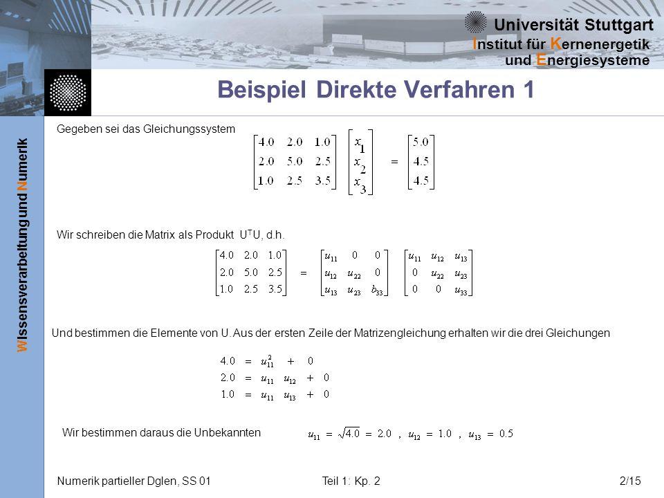 Beispiel Direkte Verfahren 1