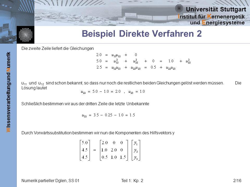 Beispiel Direkte Verfahren 2