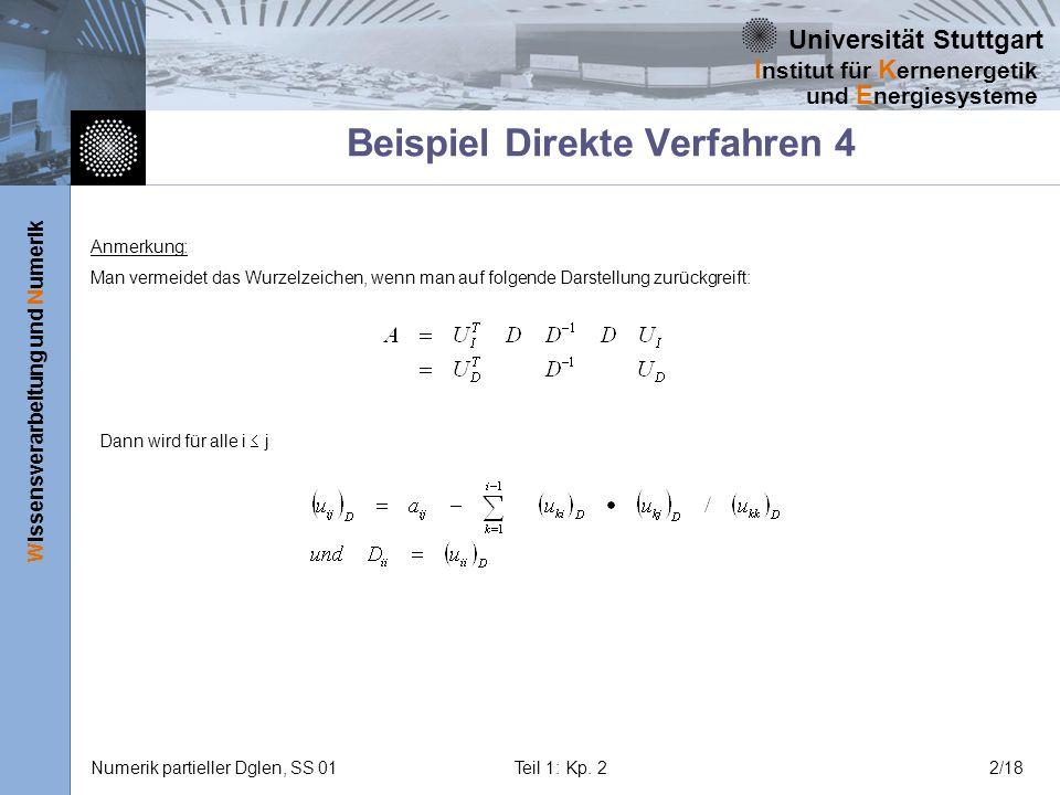 Beispiel Direkte Verfahren 4