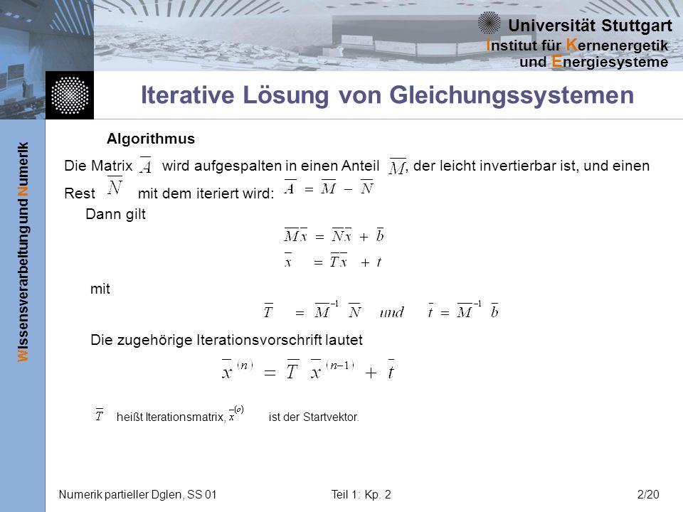 Iterative Lösung von Gleichungssystemen