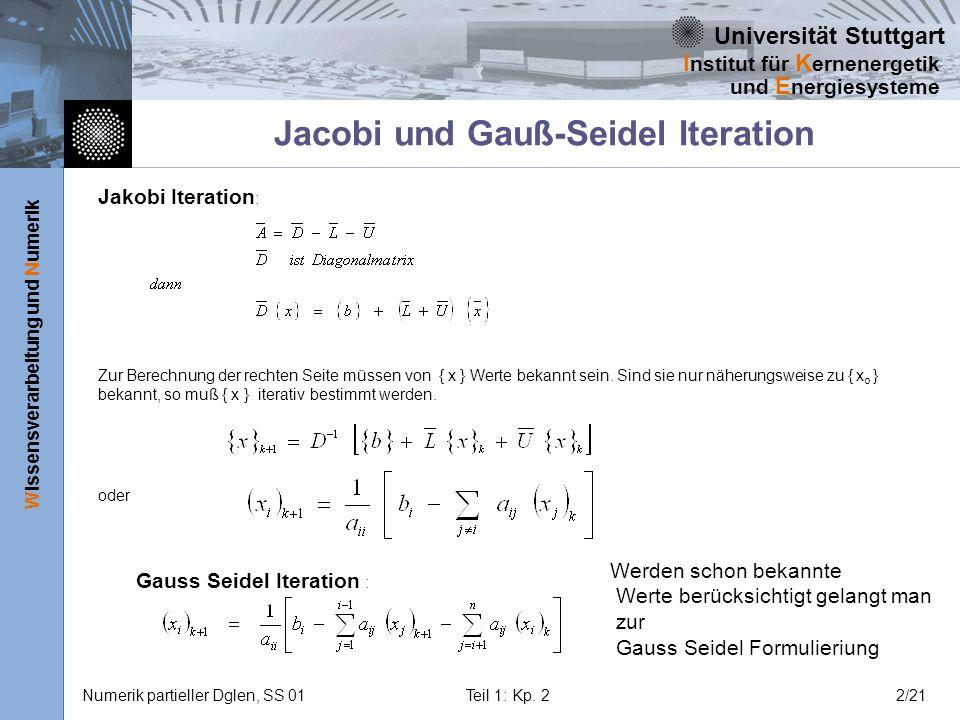 Jacobi und Gauß-Seidel Iteration