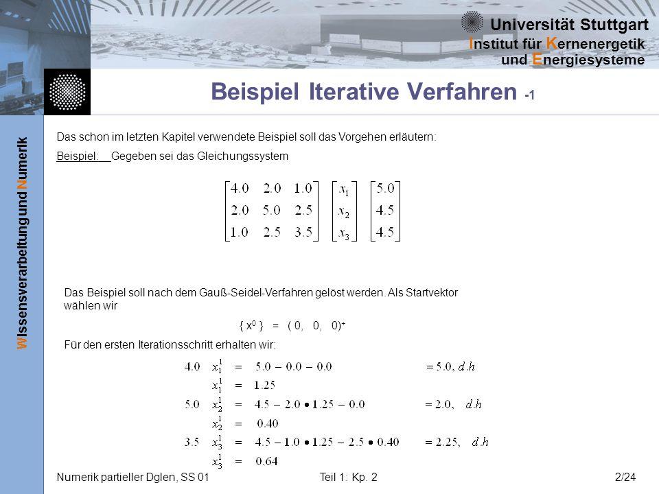 Beispiel Iterative Verfahren -1