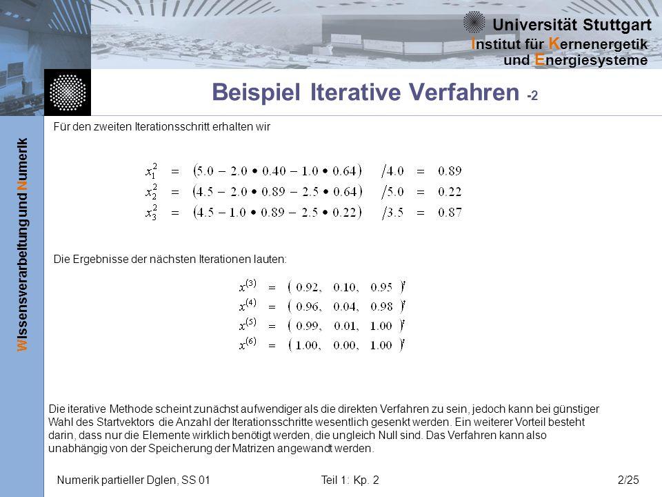Beispiel Iterative Verfahren -2