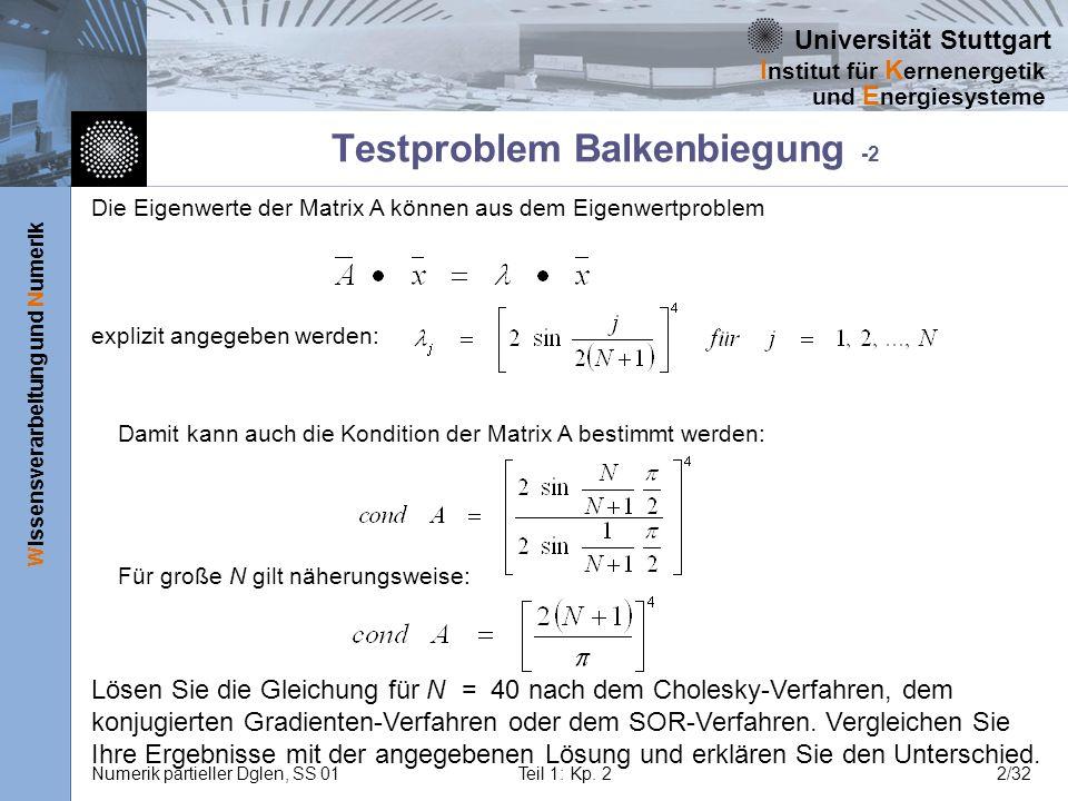 Testproblem Balkenbiegung -2