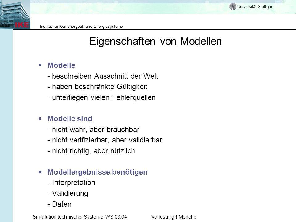 Eigenschaften von Modellen