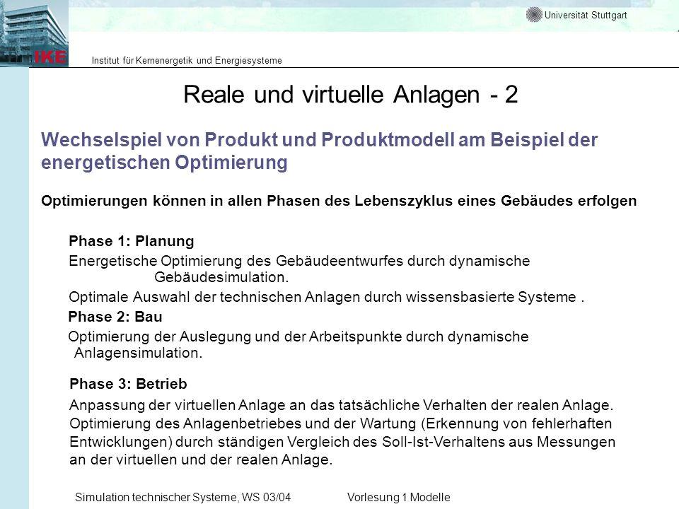 Reale und virtuelle Anlagen - 2