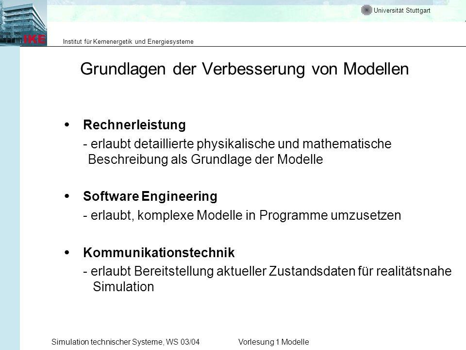 Grundlagen der Verbesserung von Modellen