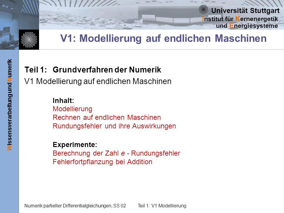 V1: Modellierung auf endlichen Maschinen